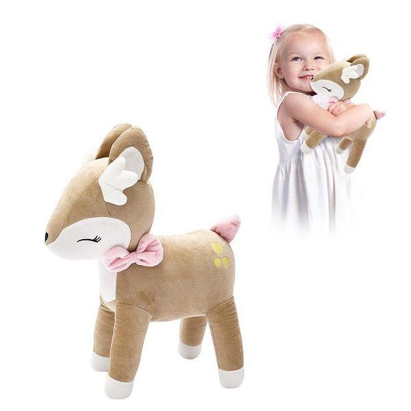 35cm reizendes Plüsch-Rotwild-Spielzeug füllte Plüschtier-pp. Baumwollweiche Baby-beruhigende Puppe J190718 an