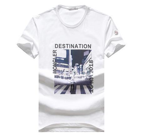 SıCAK 2019 Moda Marka M Ve Horoz LOGO Lüks Erkek T-Shirt # MON009 Fransa tasarımcı Yaz Casual Tees KAPALI GG FF MEDUSA DG BEYAZ