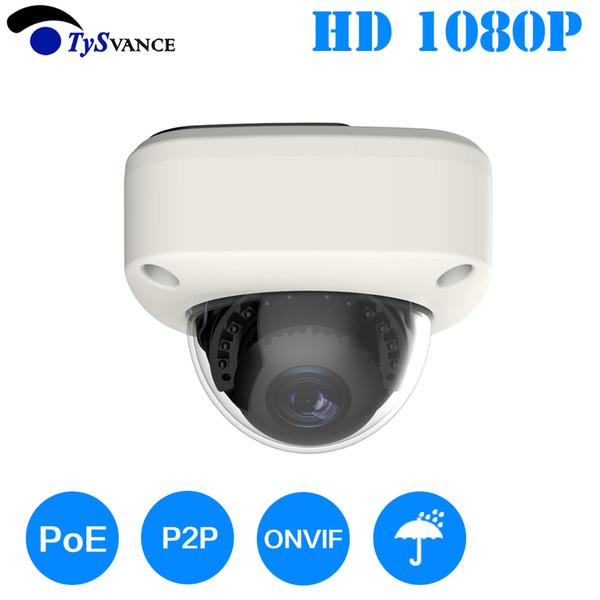 HD 2MP 1080 P Güvenlik POE MINI Dome IP Kamera Metal Ağ Kamera Video Gözetim 2.0MP IP66 Ev IR CCTV Kapalı P2P ONVIF