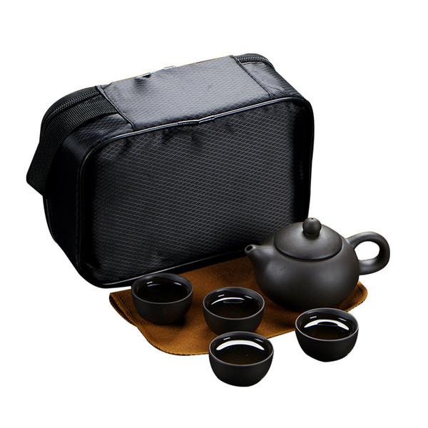 حقيبة سفر التعبئة - أسود