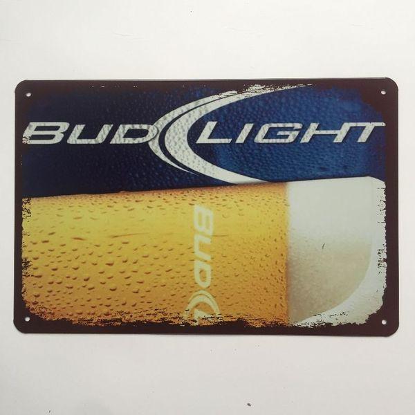 BUD LIGHT METAL TIN SIGNS pub bar garage retro kitchen