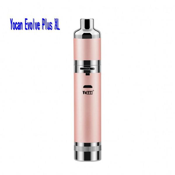 Newest Evolve Plus XL Wax Vaporizer Kit Herbal Dry Herb Herbal QUAD Coils Detachable Built-in Silicone Jar Vape Pen e cigs cigarettes Vapor