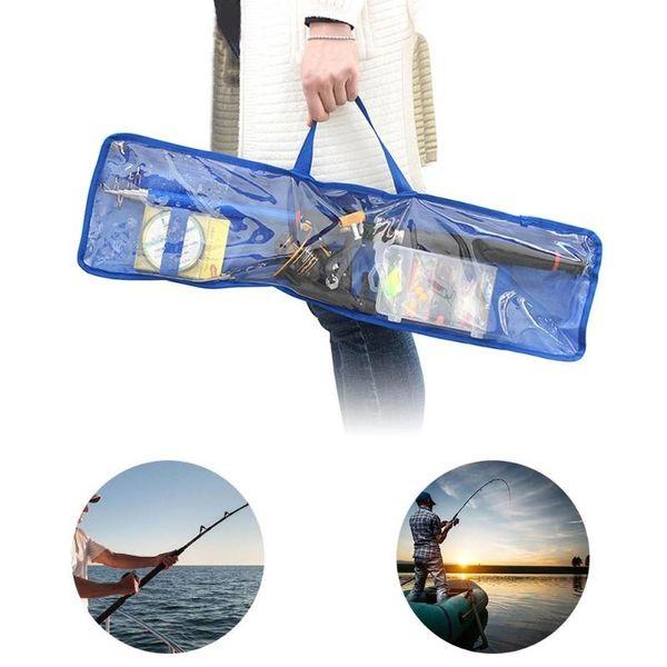 1pcs Transparent Storage Case Carrier Fishing Tackle Bag Reel Bag For Fishing Rods/ Reels/ Lines Tackle Storage Travel Case #164124