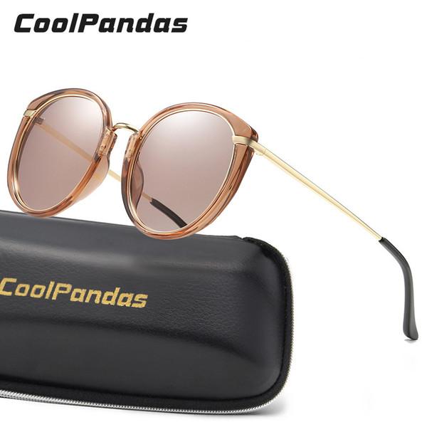 BRAND DESIGN Summer Ocean candy color Tinted lens Ladies Polarized Sunglasses Women Round Sunglasses Gradient Lend Shades UV400