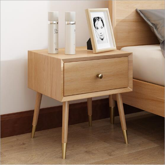 2019 Nordic Solid Wood Bedside Cabinet Bedroom Storage Cabinets Simple  Modern Receiving Cabinet Japanese Bedside Cabinet White Oak Furniture From  ...