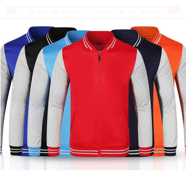 sweatshirts Good Quality 6 Patchwork 100% Polyester Cool College Baseball Jacket Men 2017 Fashion Design Plus size S-XXXL