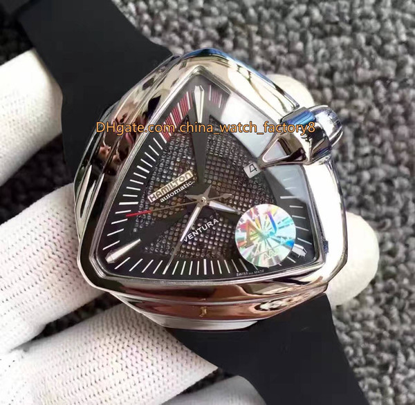 2 Color Topselling Top Quality Brand Watch H24615331 Triangle Asia ETA 2824-2 Movement Transparent Mechanical Automatic Mens Watch Watches