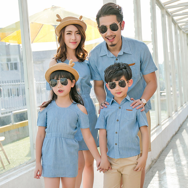 Family Matching Dress Tshirt Blouse Mother Son Outfits Mommy and Me Mother and Daughter Clothes Clothing Daddy Baby Family Look