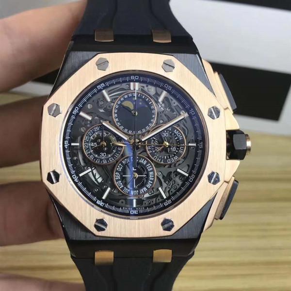 2019 heißer verkauf schwarz kautschukband herrenuhren quarz armbanduhren stoppuhr uhr für männer beste geschenk