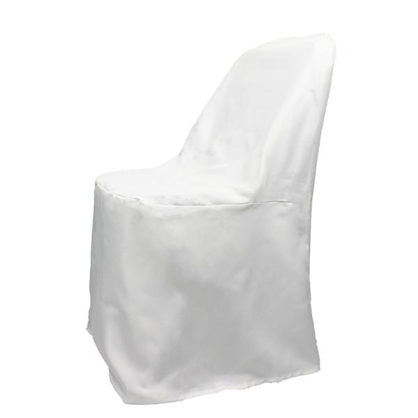 50 PCS Universal Branco Cadeira Dobrável Slipcovers Cobre Cadeira Para Festa de Casamento Banquete Decoração