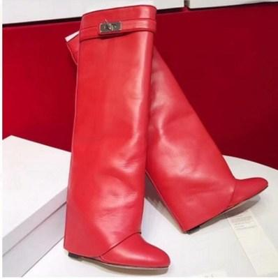smooth leather red