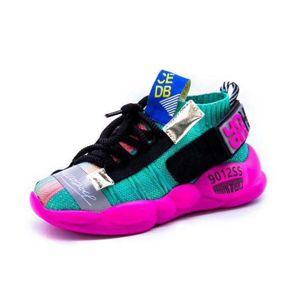 Kinder leuchtende Schuhe Herbst 2019 Kind Mode Freizeitschuhe für Mädchen Laufen Mädchen Socken Schuhe Kinder Soft Bottom Sneakers Größe 26-37S