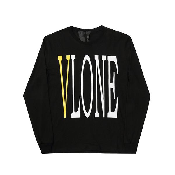 Vlone Hoodie Hip Hop Tasarımcı Hoodie Erkekler Yüksek Kalite Siyah Beyaz Uzun Kollu Tasarımcı Hoodies Erkek Kadın Tişörtü Boyut S-XL