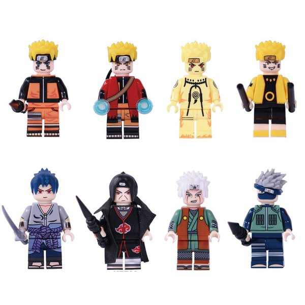 Japón historieta del Anime de NARUTO Hokage ninja Uzumaki Naruto Hatake Kakashi Uchiha Sasuke Itachi Jiraiya mini figura de acción Toy Building Blocks