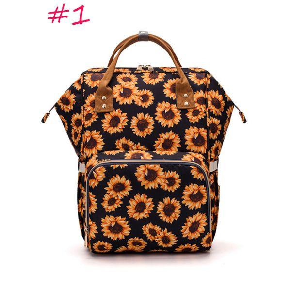Подсолнечная Пеленка сумка водонепроницаемых многофункционального леопарда серапе печать плечо подгузник рюкзак Мамочка подгузник кактус камуфляж шаблон путешествие рюкзак
