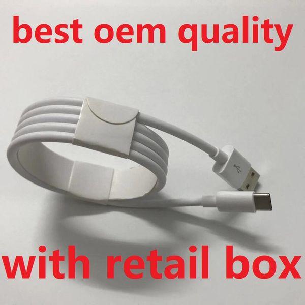 Câble micro USB Qualité OEM 1M 3Ft 2M 6FT Ligne de données Cordon de charge avec boîte de vente au détail d'origine pour Téléphone Samsung S7 S8 S9 S10 Note 7 Huawei P9 8