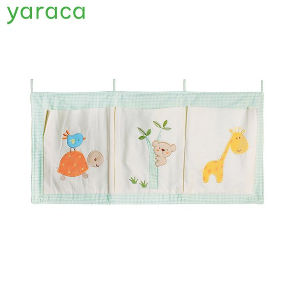 Pure Cotton Crib Organizer Baby Cot Bed Hanging Storage Bag Toy Diaper Pocket for Newborn Crib Bedding Set Accessories in Stock