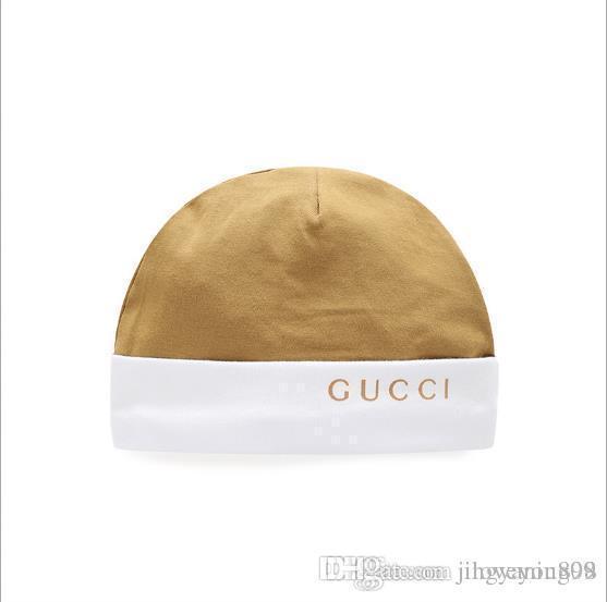 Más vendido 2019 nuevos sombreros del bebé de alta calidad de algodón de moda niños sombrero saliente 20.5-20.5 CM