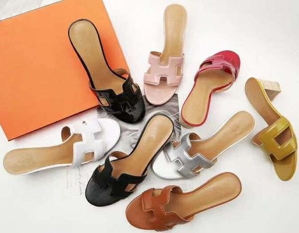 Женские сандалии дизайнерская обувь роскошные слайд летний модельер каблуки скользкие сандалии тапочки дизайнерские тапочки Frauenhausschuhe