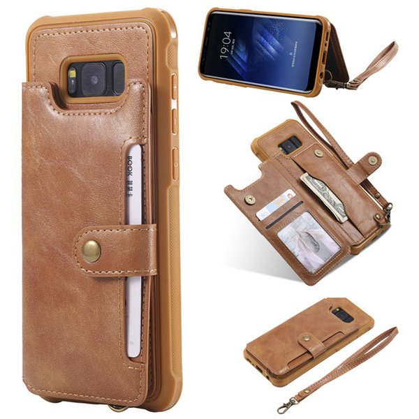 leather phone cover for samsung case, wallet smartphone case for samsung s9 For samsung s8 plus