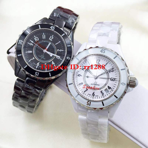 2 color High Quality Fashion watch series 38MM ceramic bezel Diamond dial calendar Automatic machinery Unisex watch Mens Womens Watches