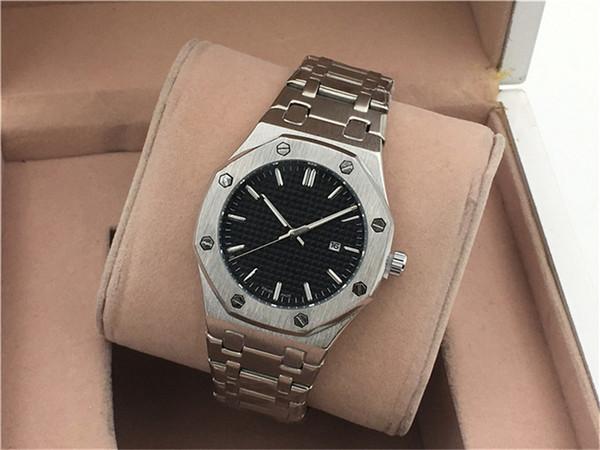 Calendrier de loisirs pour hommes de luxe de montre à quartz 42mm tout en acier ceinture orologio di lusso livraison gratuite