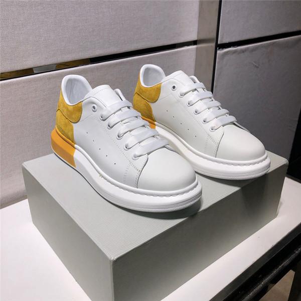 Avec la boîte de luxe designer concepteur unisexe chaussures de sport top qualité en cuir véritable designer couple chaussures chaussures de designer de mode taille 35-44 B100535W
