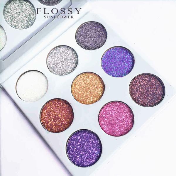 Diamond sequins Eye shadow palette Shiny glitter powder Metallic 9 colors eyeshadow Palette Waterproof Long-lasting Eyes makeup