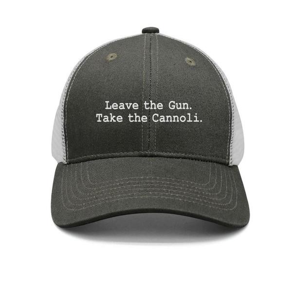 The Godfather BLACK logo army-green mens and womens trucker cap ball styles designer plain hats