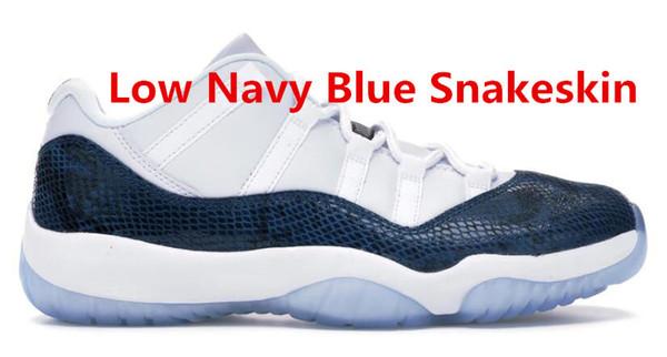 Low Navy Blue Snakeskin