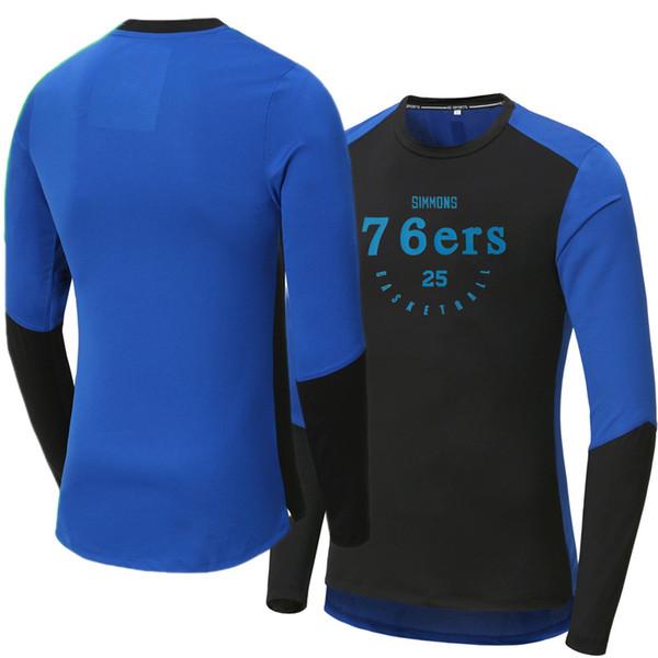 Spor Tişörtlü Embiid / Simmons / Westbrook Uzun kollu çabuk kuruyan basketbol antrenman takım kıyafetleri Sweatshirt