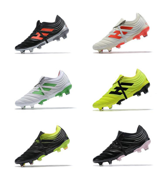 2019 Discount Mens Champagne Solar Copa 19.1 FG Soccer Cleats World Cup Soccer Shoes Classic Style Copa Mundial Neymar Football Boots