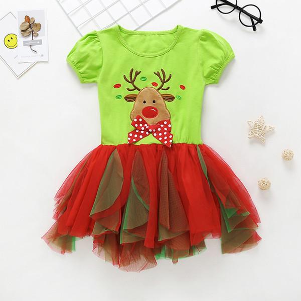 Buena calidad de verano niños lindos niñas vestido de moda vestidos de alta calidad para niñas bebés niños de dibujos animados vestido de bola para la fiesta de ajuste 2-7Y