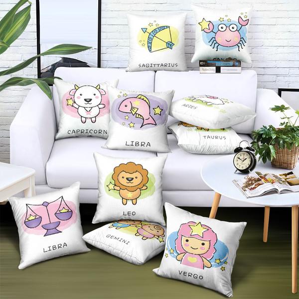Personalizado Dos Desenhos Animados Fronha Liso Cetim Pano Impressão Capa de Travesseiro Da Marca de Publicidade Presente Sofá Cadeira Do Assento Do Carro Caso Decorativo Capas de Almofada
