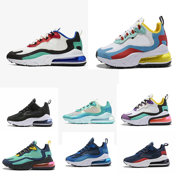 2019 2019 270 React Men Women Running Shoes Bauhaus Optical Oreo White Deep Blue Designer Mens Trainers Breathable Sports Sneaker Size 36 47 From
