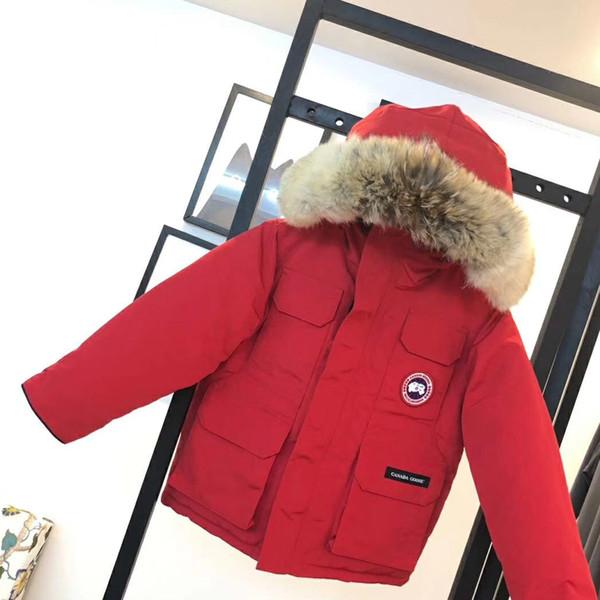 Çocuklar Tasarımcı Aşağı Ceket Lüks Erkek Kalın Ceketler ile Kapşonlu Peluş 2020 Kış Açık Kızlar ile Kayak Takım Harita Rozeti Nakış 5 renkler