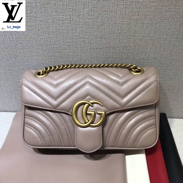 top popular Wavy Quilted Leather Medium Shoulder Messenger Nude Color Bag 443497 Handbags Bags Top Handles Shoulder Bags Totes Evening Cross Body Bag 2019