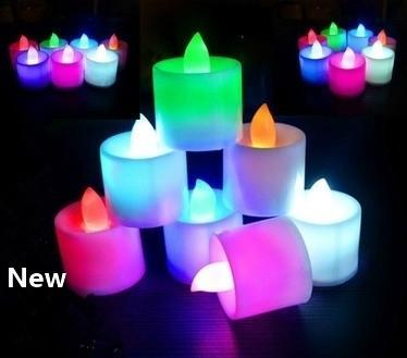 top popular Multicolor Electronic Candle Light LED Simulation Candle Light Birthday Wedding Flameless Flashing Candle Plastic Home Decoration EEA1693 2021