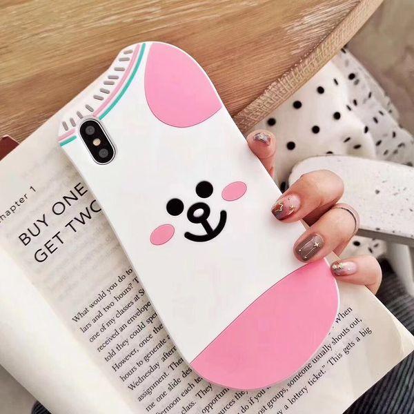 Luxury 3D Cartoon Kawaii Animal Rabbit Duck Bear Case Cover for IPhone X XS MAX XR 7 6 6s 8 Plus I Phone 8plus 7plus Cute Phone Cases Coque
