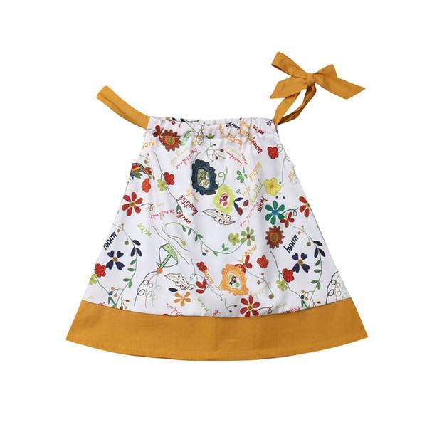 Verão Do Bebê Menina Floral Vestido Solto Princesa Vestidos Crianças Do Bebê Meninas Vestidos de Festa de Casamento Da Criança Sunsuit Sundress