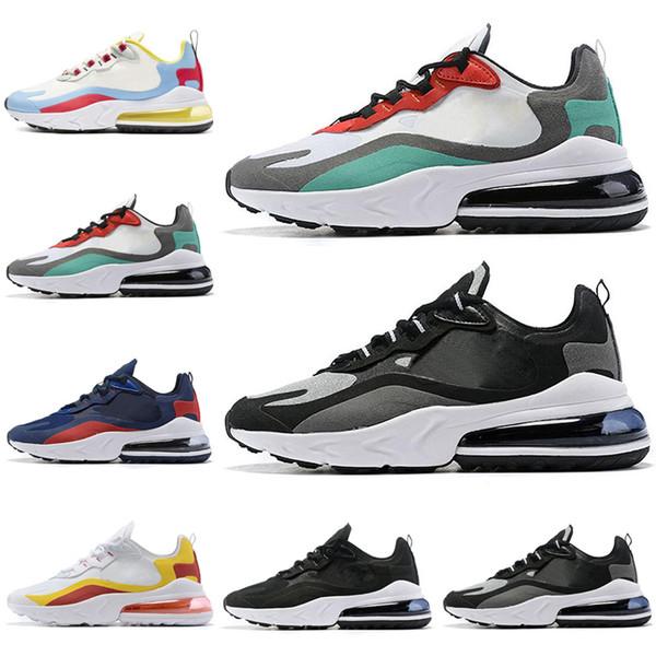 Nike Air Max 270 React zapatos para correr para mujeres, hombres, zapatos, Bauhaus, OPTICAL, entrenadores, al aire libre, deportes, zapatillas de deporte 40-46