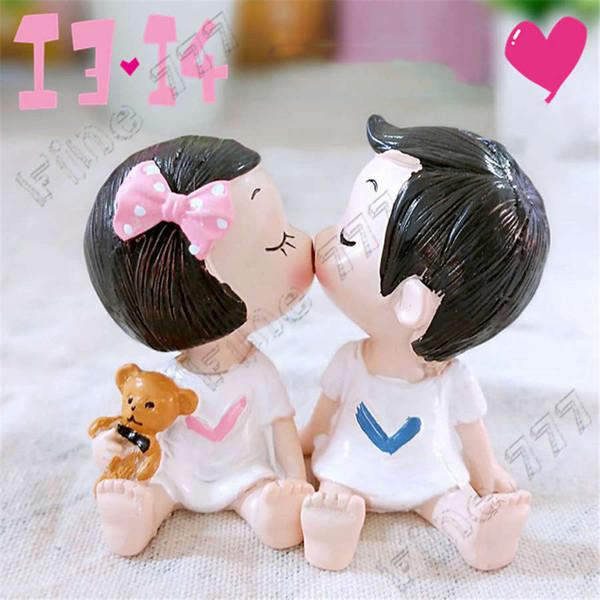 INS tarzı çift bebek pasta süsleme süsler sevimli bebek Çocuk oyuncakları düğün hediyesi sevgililer Günü hediyesi