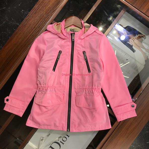 Children windbreaker kids designer clothing hooded windbreaker coat waterproof fabric autumn and winter lining cotton coat