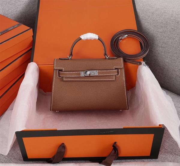 2019 nuova vendita calda Borse per borse da donna Borse in vera pelle Fashion lady Handbag Factory fibbia in argento dorato all'ingrosso Disponibile dimensioni19cm 00004