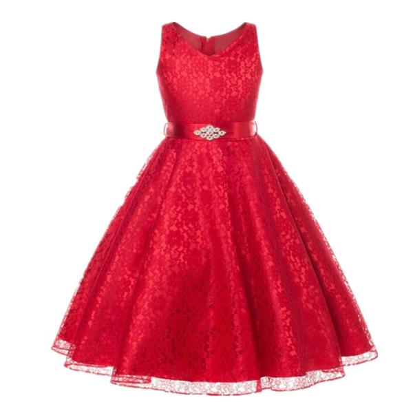 Acheter Action De Grâces Noël 2019 New Vêtements Pour Enfants Filles  Costumes Pour Enfants Robe En Dentelle Robes De Soirée De Charme De $31.31  Du