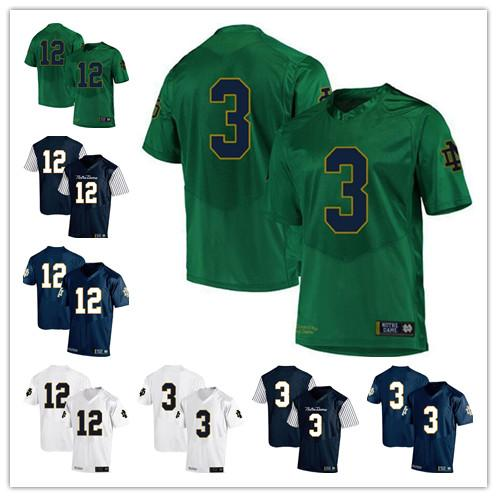 ceaa9a49b6e ND 3 Joe Montana 12 Ian Book College Football Jersey Mens Notre Dame  Fighting Irish Vintage Rush Gold Navy Blue White Stitched jersey