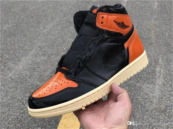 Sıcak 2019 Otantik Hava 1 Yüksek OG Retro Paramparça Backboard 3.0 Adam Sepet Ayakkabı Siyah Soluk Vanilya Denizyıldızı Atletik Sneakers 555088-028