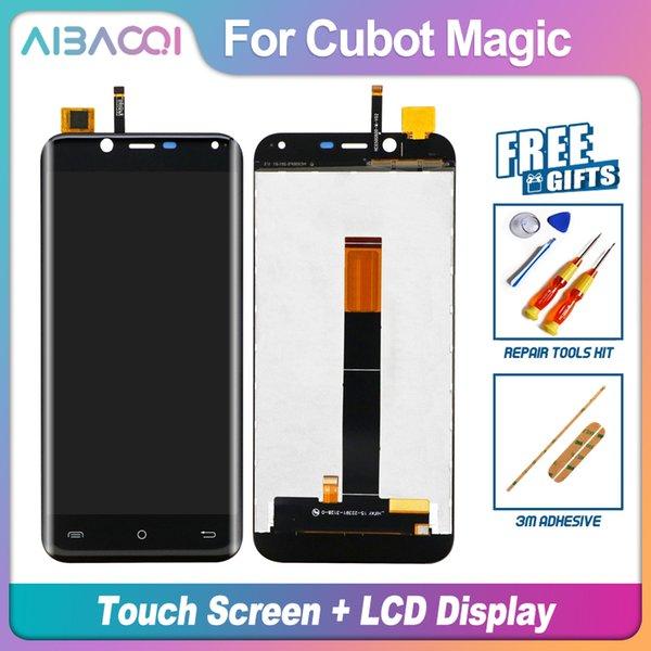 AiBaoQi Nuovo originale dello schermo di tocco di 5.0 pollici Assemblea dell'esposizione + 1280x720 LCD di ricambio per Cubot magia Android 7.0