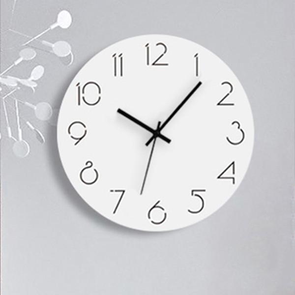 Large 3d Creative Silent Wooden Wall Clock Modern Design Sticker Kids Nordic Clock Designer Wanduhr Wall European WBY023