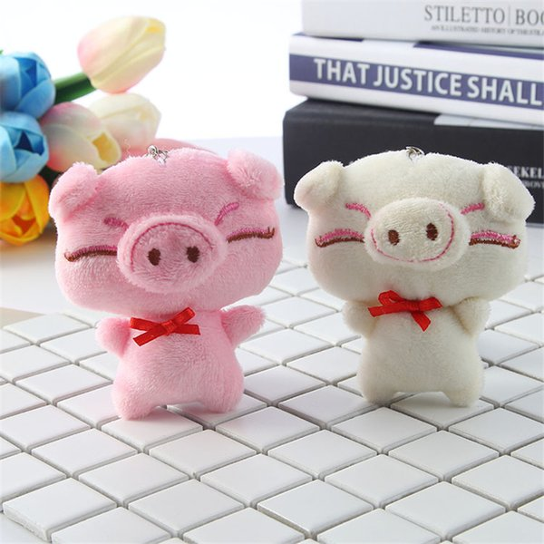 1pcs Cute Pig Keychain Anime Keychain Car Plush Toys Key Keychains Key Ring Holder Pendant for Bag Gifts for Women Girl